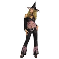 Pink Black Nouveau Witch Adult Costume