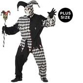 Evil Jester Adult Plus Costume