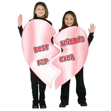 Best Friends Forever Heart Child Costume