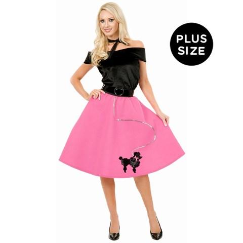 Pink Poodle Skirt Adult Plus Costume