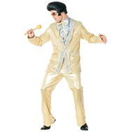 Elvis Gold Lame' Suit Adult