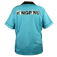 King Pin Classic Style Bowling Shirt - Turquoise