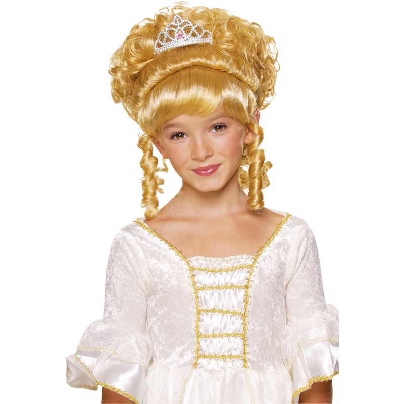 Blonde Child Wig with Tiara for the 2015 Costume season.