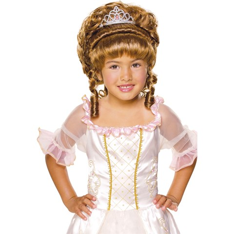 Brown Child Wig with Tiara