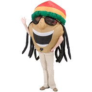 Inflatable Reggae Big Head  Adult