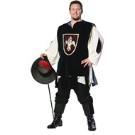 Muskateer Plus Adult Costume Available in adult Plus size XXLarge and