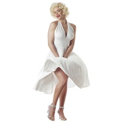 Sexy Marilyn Adult Costume  White X-Large Marilyn Monroe Adult