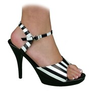 Sexy Stripes Adult Shoes (Black/White)