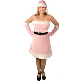 Pink Santa's Helper Adult Plus - Winter Holiday Classics Costume