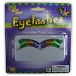 Mardi Gras Colored Lashes Small Eyelashes