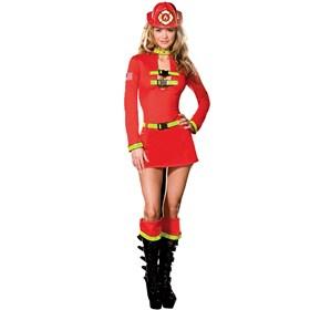 Fire House Flirt Plus Adult Costume