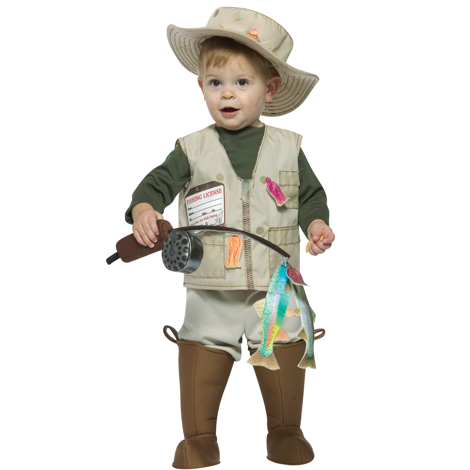 Future fisherman infant costume for Baby fishing pole