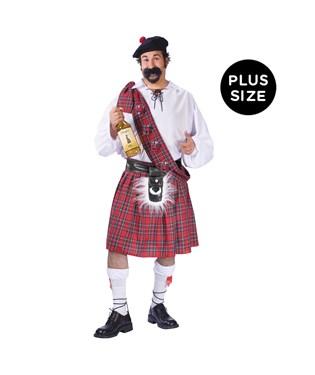Big Shot Scot Adult Plus Costume