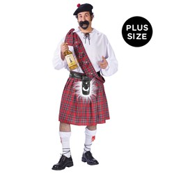 Big Shot Scot Adult Plus Costume