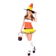 Candy Corn Witch Adult Costume