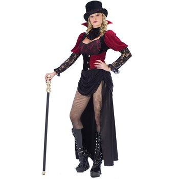 Burlesque Victorian Vampiress Adult Costume - Costumes