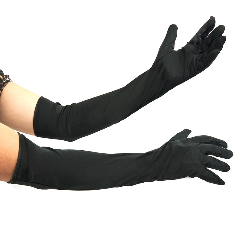 Elbow Length Nylon Gloves (Black) for the 2015 Costume season.