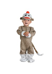 Click Here to buy Sock Monkey Baby Costume from BuyCostumes
