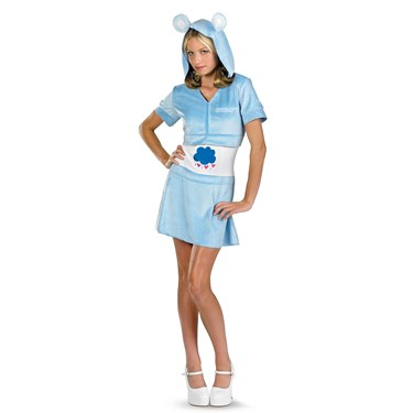 Care Bears - Grumpy Bear Hoodie Dress Teen Costume