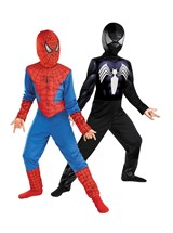Click Here to buy The Amazing Spider-Man Reversible Red to Black Kid from BuyCostumes