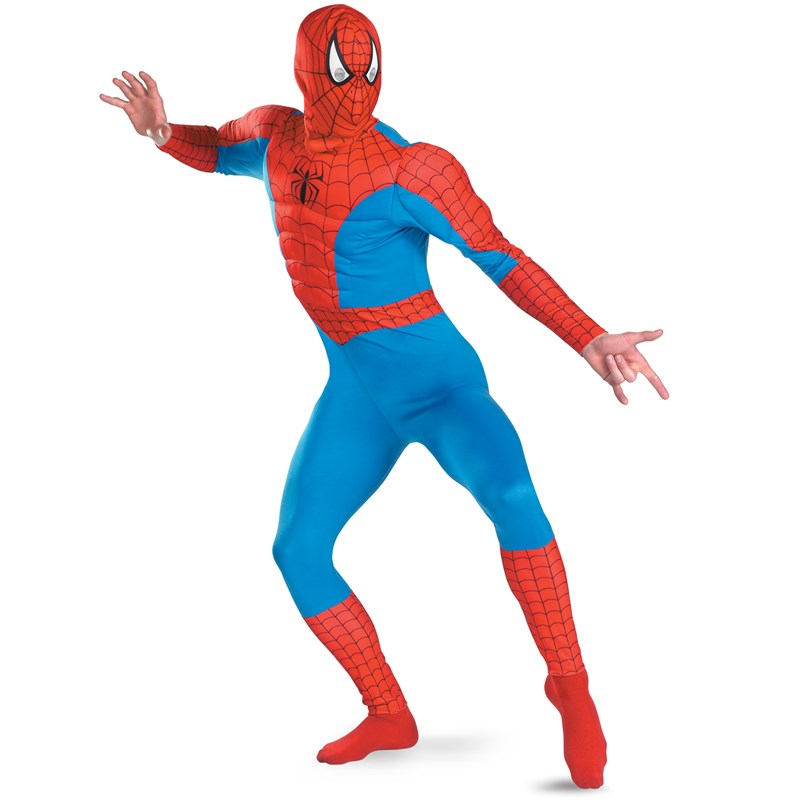 The Amazing Spider Man Muscle Chest Adult Costume for the 2015 Costume season.