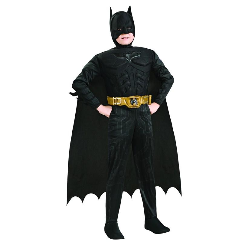 Batman The Dark Knight Rises Deluxe Muscle Chest Child Costume for the 2015 Costume season.