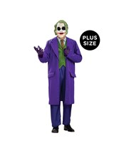 Click Here to buy Batman Dark Knight The Joker Deluxe Plus Adult Cos from BuyCostumes