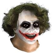 Batman Dark Knight Adult Joker Latex Mask with Hair