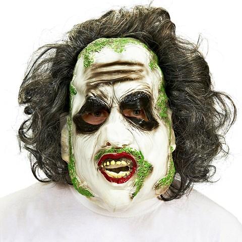 Beetlejuice 3/4 Vinyl Mask with Hair