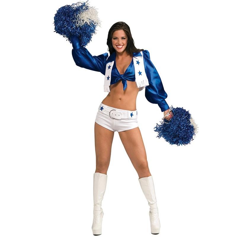 Dallas Cowboys Cheerleaders Deluxe Sexy Dallas Cowboys Cheerleader Adult Costume for the 2015 Costume season.