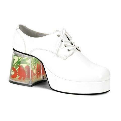 Fish Heel Pimp Adult Shoes (White)