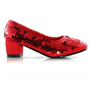 Judy Red Glitter Child Shoes