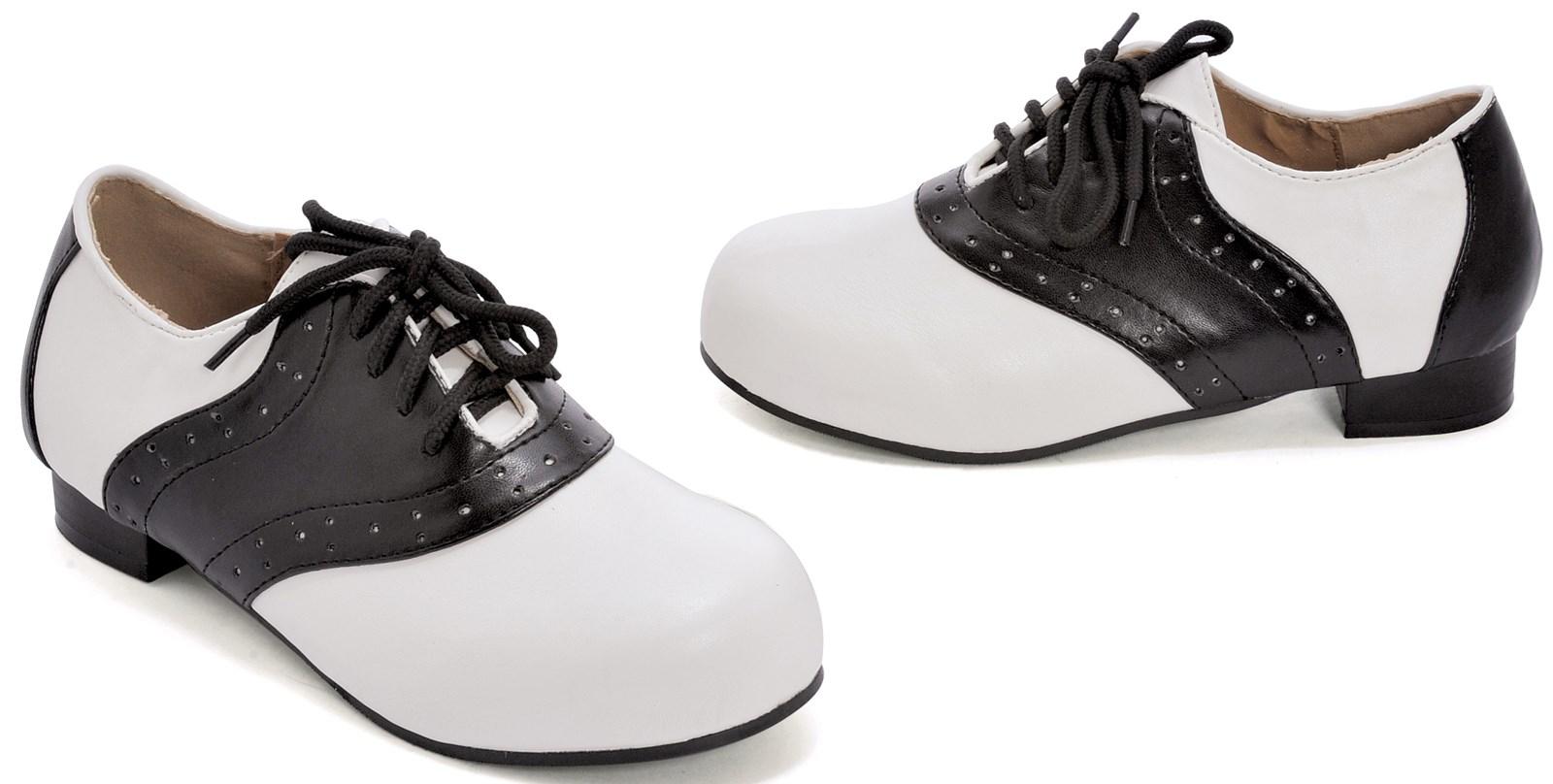 Saddle Black/White Child Shoes