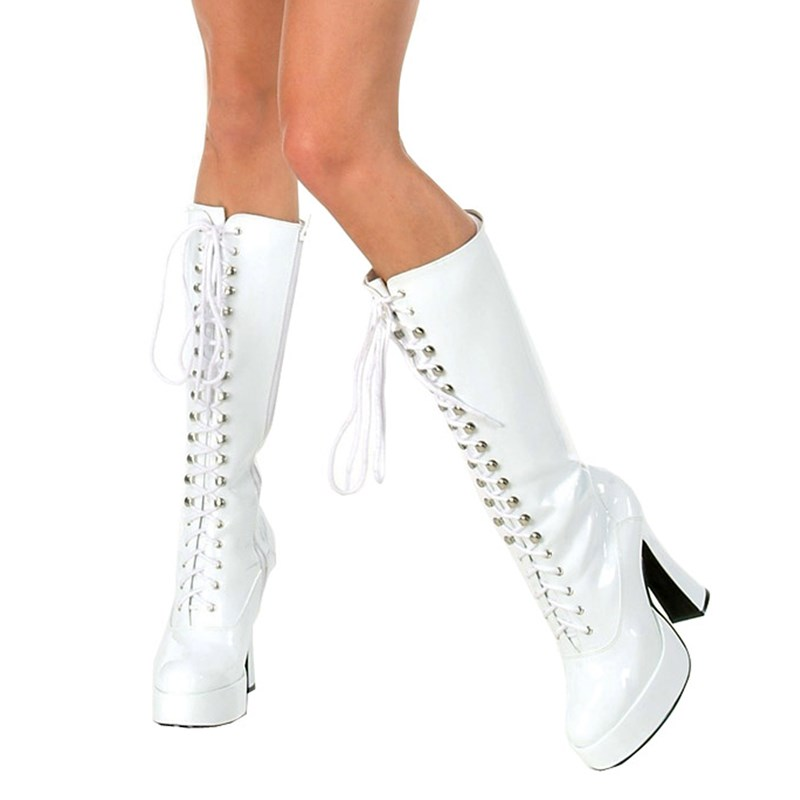 Easy (White) Adult Boots for the 2015 Costume season.