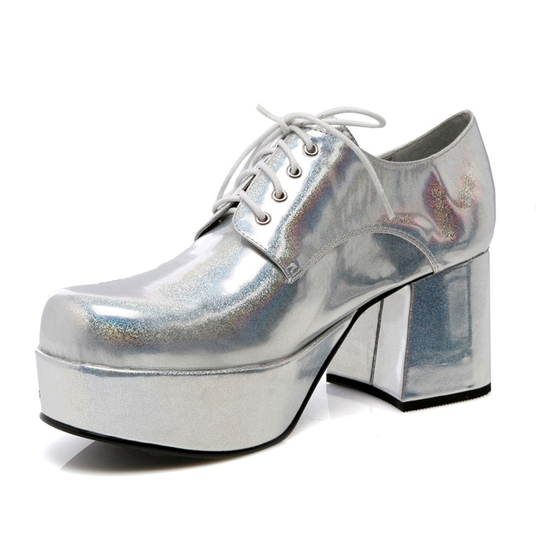 Silver Pimp Adult Shoes for the 2015 Costume season.