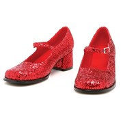 Eden Red Glitter Child Shoes
