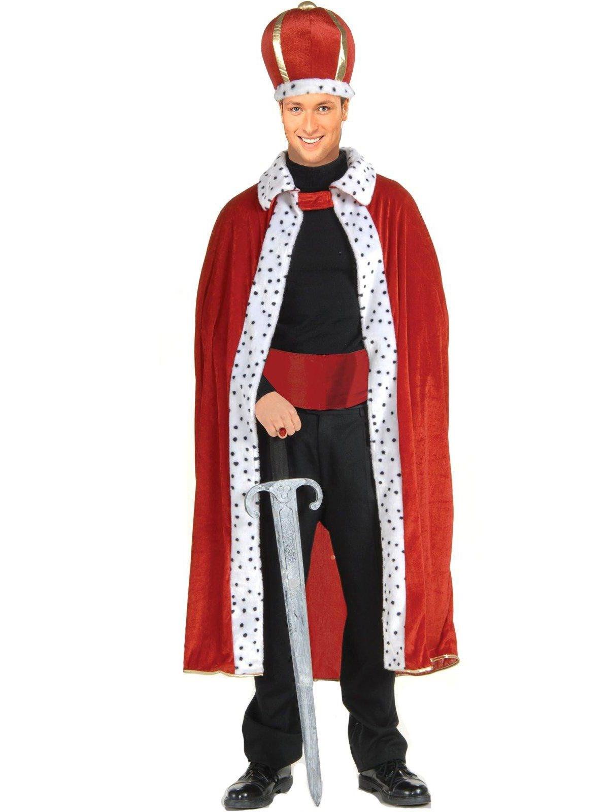 Image of King Robe Crown Adult Costume Kit