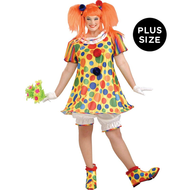 Giggles The Clown Adult Plus Costume for the 2015 Costume season.