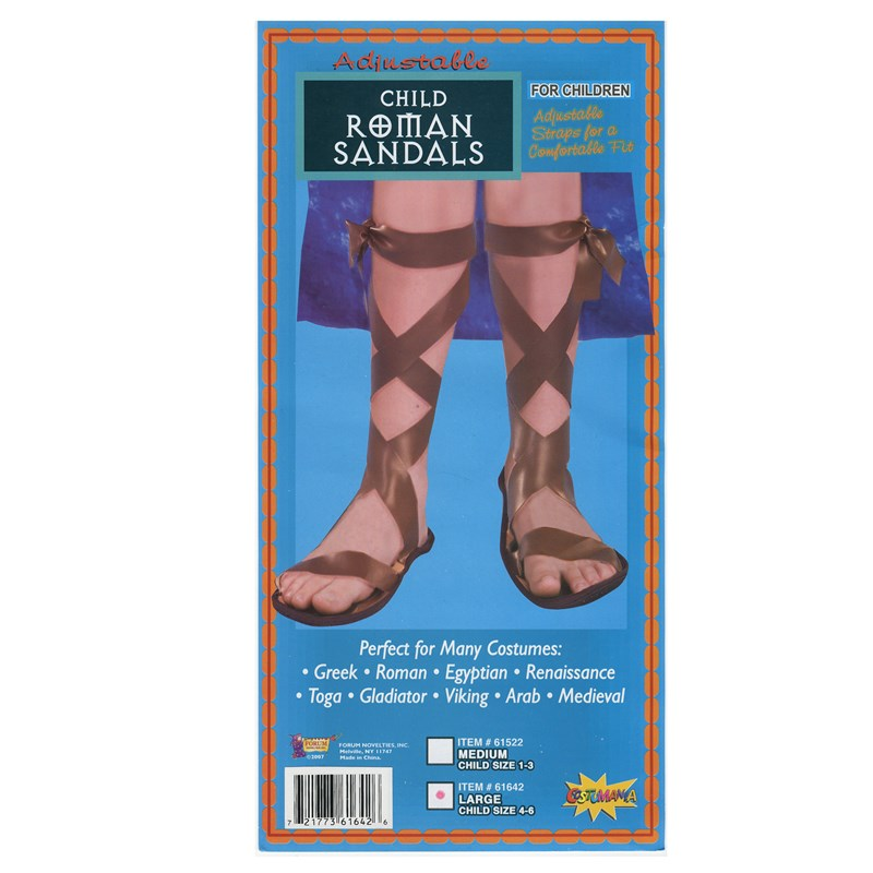 Roman Child Sandals for the 2015 Costume season.