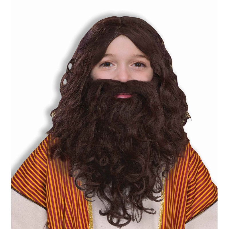 Biblical Wig and Beard Set Child for the 2015 Costume season.