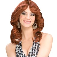 70's Disco Doll Auburn Wig