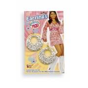 Silver Glitter Earrings
