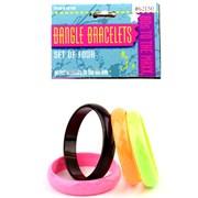 80's Bangle Bracelet Set (4 piece)