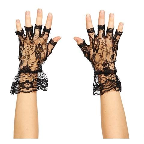 Black Lace Fingerless Gloves