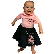 Poodle Skirt and Onesie Pink/Black Infant Costume