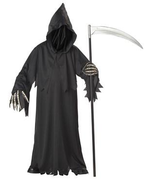 Grim Reaper Deluxe with Vinyl Hands Child Costume