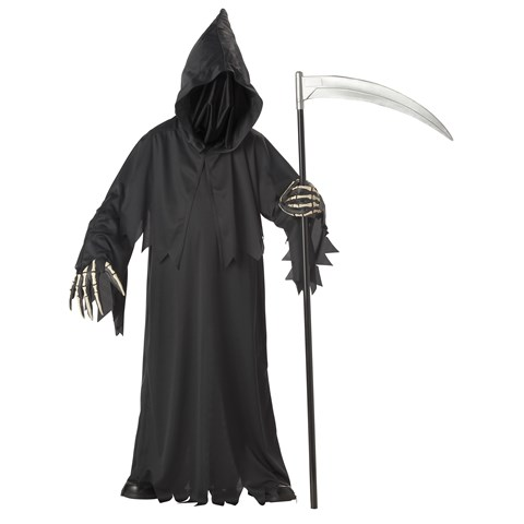 Grim Reaper Deluxe with Vinyl Hands Child Costume