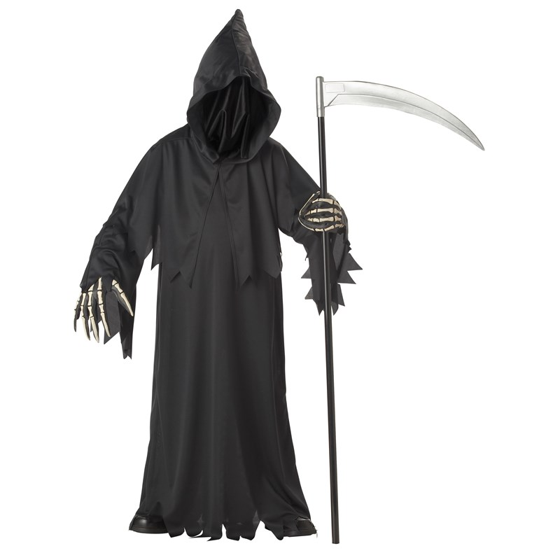 Grim Reaper Deluxe with Vinyl Hands Child Costume for the 2015 Costume season.