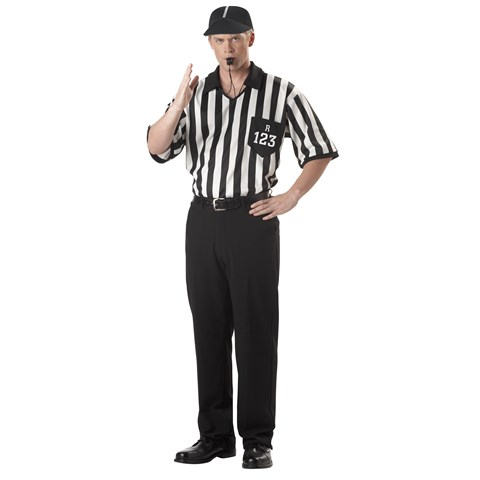 Classic Referee Adult Costume Kit