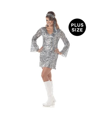 Disco Diva Adult Plus Costume